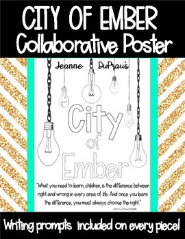 City of Ember Collaborative Poster - Writing Prompts - Jean DuPrau
