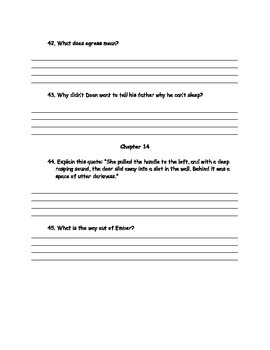 City of Ember Guided Reading Question Guide