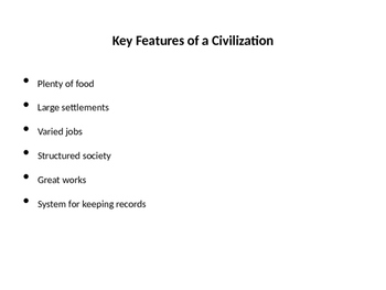 City of Ember Key Features of Civilization