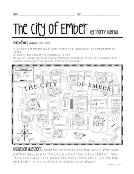 City of Ember Novel Unit - Common Core Aligned