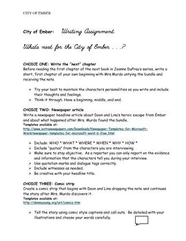 City of Ember Novel Unit (Part 4) SURFFDOGGY