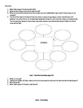 City of Ember Pacing and Activity Guide