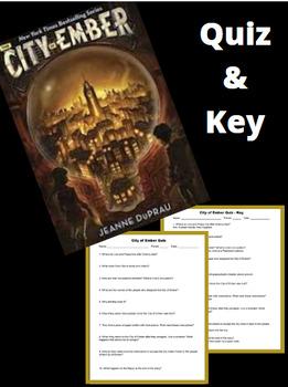 City of Ember Quiz & Key