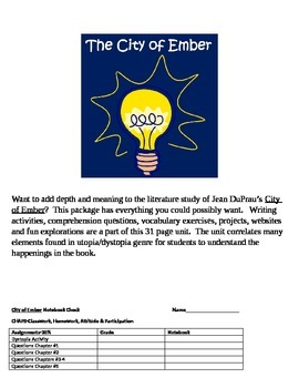 City of Ember Unit of Study