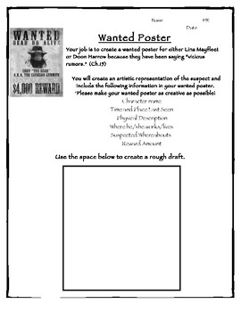 City of Ember Wanted Poster