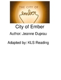 City of Ember - adapted book picture supported text visuals - chapter questions