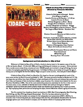 City of God Film (2002) Study Guide Movie Packet