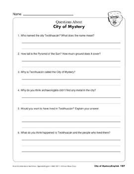City of Mystery/Ciudad de misterio
