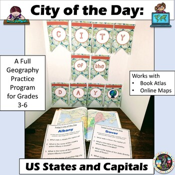 City of the Day - Daily Geography - US States and Capitals