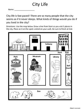 City or Rural Life: 10 Fact-Based Activities for Grades 2-3