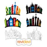 City skyline buildings clip art - Superhero city backdrop