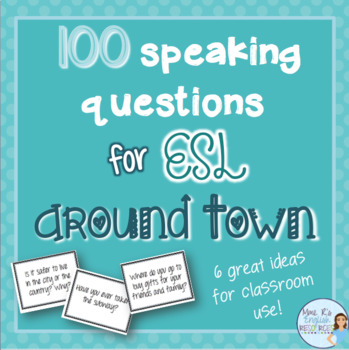 City speaking prompts for ESL TOWN AND PLACES VOCABULARY