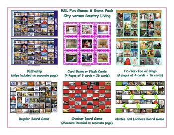 City versus Country Living 6 Board Game Bundle