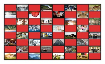 City versus Country Living Legal Size Photo Checkerboard Game