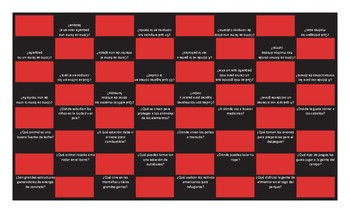 City versus Country Spanish Checker Board Game