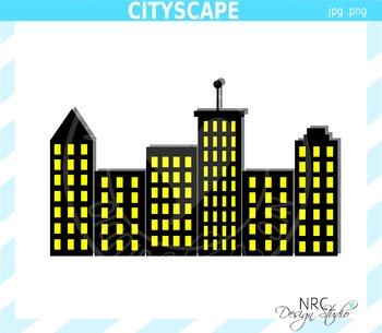 Cityscape Clip Art - Commercial Use Clipart