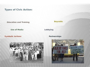 Power Point over Civic Action in Colonial America