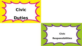 Civic Duties and Responsibilities Sort