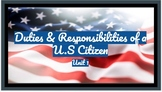 Civic Duties and Responsibilities of a U.S. Citizen: Notes & Exit Ticket