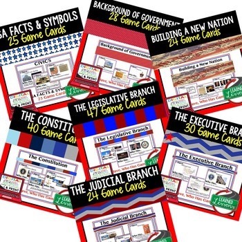 Civics 417 Game Card BUNDLE (Civics & Government Bundle)