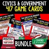 Civics Game Card BUNDLE (Civics & Government Bundle), & Di