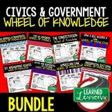 Civics Activities, Government Activities, Wheel of Knowledge BUNDLE