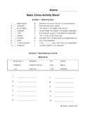 Civics Activity Sheet