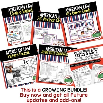 Civics American Law BUNDLE (Civics & Government BUNDLE)
