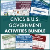 Civics Bundle: 20+ Activities - Branches of Government, Citizenship, Voting, etc