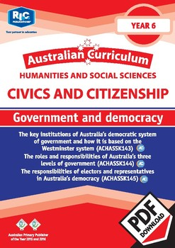Civics and Citizenship: Government and democracy – Year 6