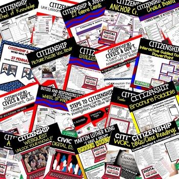 Citizenship BUNDLE (Civics BUNDLE, Government Bundle)
