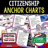 Citizenship Anchor Charts, Citizenship Posters, Civics Anchor Charts