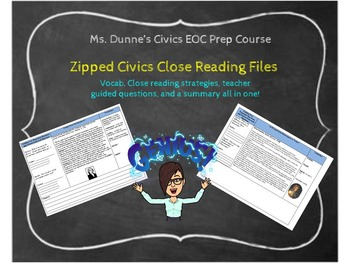 Civics Close Readings for Civics
