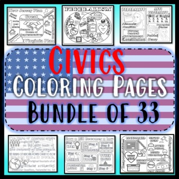 Civics Coloring Pages Growing Bundle Of 24 Eoc Review By Civics Studies