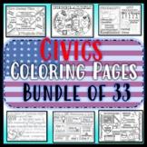 Civics Coloring Pages GROWING Bundle of 24- EOC Review