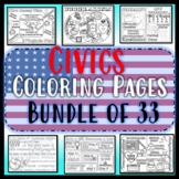 Civics Coloring Pages GROWING Bundle of 30- EOC Review