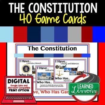 Constitution Game Cards, Test Prep (Civics & Government)