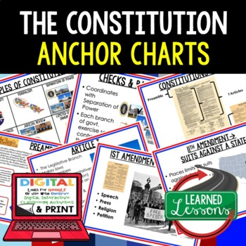 Civics Constitution Anchor Charts #halfoffhalftime