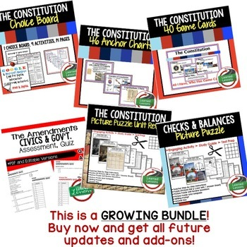 Constitution BUNDLE  (Civics and Government Bundle)