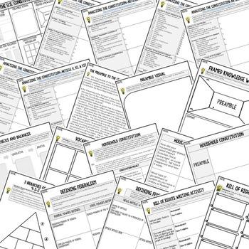 Constitution Activities, Choice Board, Print & Digital, Google