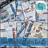Civics Doodle Notes and Digital Guided Notes Bundle
