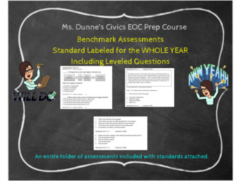 Civics EOC Course Assessments for the WHOLE YEAR