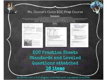 Civics EOC Practice Sheets