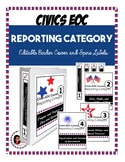 FREEBIE Civics EOC Reporting Category EDITABLE Binder Cover and Spine Labels