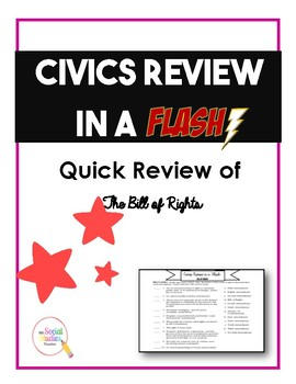 Civics (EOC) Review in a Flash: Bill of Rights