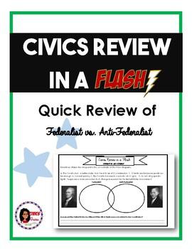 Civics (EOC) Review in a Flash: Federalist vs. Anti-Federalist