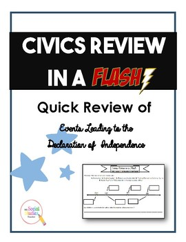 Civics (EOC) Review in a Flash: Leading to the Declaration of Independence