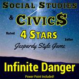 Civics, Economics & Consumer Math Jeopardy Style Review Game Social Studies!