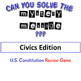 Civics Edition Mystery Message (Rebus) Review Game
