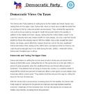 Civics Election Unit Day 1 Democratic Party Platform